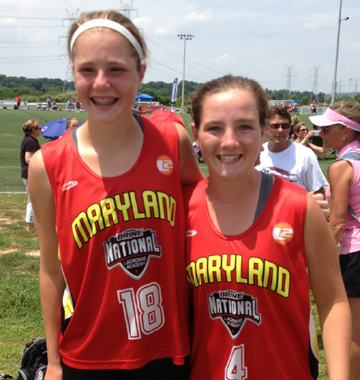 Maryland's Michigan connection of Isabelle Scane (left), Kelleigh Keating