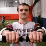 Former Conestoga (PA) standout Christian Jobs demonstrates using the Stik to improve hand, wrist,, forearm strength