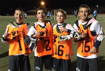 PA 7th Grade All-Stars, from left, James Chastain, Champ Doyle, Gabriel Goforth, Drew Pettinelli