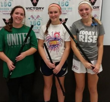 Wildcats MVPs (from left): Natalie Pugliese (Team United), Nicole Orella (Long Island Yellow Jackets), Madison Corcoran (Lady Roc)