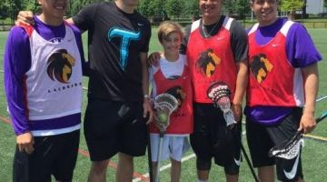 Braeden Lange with the Thompson Brothers