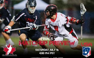 .@CanadaLacrosse, #USAMLAX face-off in @U19Lax2016 World Championship Final