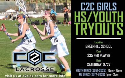 Registration open for @c2clax Dallas girls' tryouts on Aug. 27 at Greenhill School
