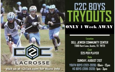 Registration open for @c2clax Austin boys' tryouts on Aug. 21 at Dell Jewish CC