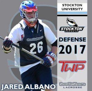 .@Epochlax boys' recruit: Washington Twp. (N.J.) 2017 DEF Albano commits to Stockton