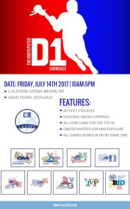 Registration open for D1 Und1sputed Showcase (@CBLaxers) July 14 at Stony Brook