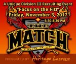 Registration open for @LaxHeritage's 'The Match,' D3 showcase Friday night, Nov 3 at @MSI_Elite (PA)