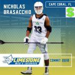 .@ConnectLAX boys' recruit: Bishop Verot (FL) 2018 DEF Brasacchio commits to Limestone