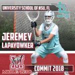 .@ConnectLAX boys' recruit: NSU University School (FL) 2018 goalie Lapayowker commits to Muhlenberg