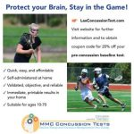 LaxConcussionTest.com offers athletes 20% discount to establish pre-concussion baseline before spring games begin