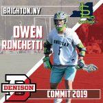 .@ConnectLAX boys' recruit: Brighton (NY) 2019 MF Ronchetti commits to Denison